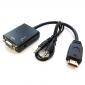 ADAPTADOR HDMI M / VGA H + AUDIO 15 cms