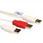 CABLE 2X USB A / A MACHO 1 ,8 METROS
