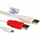 CABLE 2X USB A / 5 PINS 1 ,8 METROS