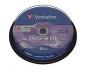 DVD DOBLE CAPA +R VERBATIM BOBINA 10 UNIDADES (LPI 2,10 no inc)
