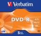 DVD-R VERBATIM CAJA 5 UNIDADES (LPI 1,05 no inc)